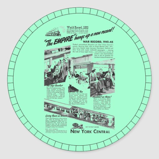 The NYC Empire Express 1945 Round Sticker