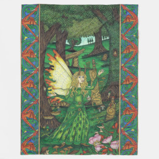 The Oak Mage Fleece Blanket