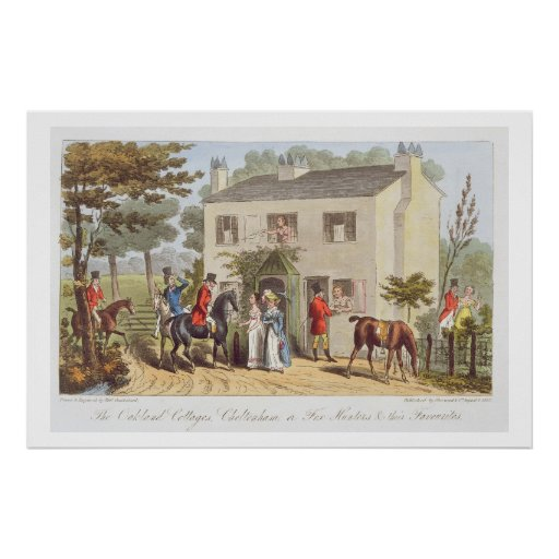 The Oakland Cottages, Cheltenham, or Fox Hunters a Print