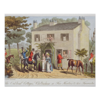 The Oakland Cottages Cheltenham or Fox Hunters a Posters