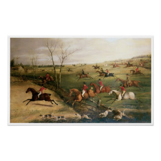 The Oakley Hunt, Henry Thomas Alken Poster