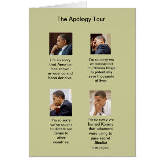The Obama Apology Tour Birthday Card