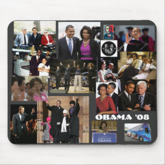 The OBAMA collage Mouse Pad
