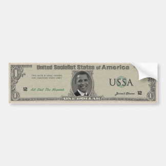 The Obama Dollar Bumper Sticker