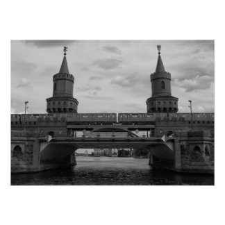 The Oberbaum Bridge 001.03.F, BERLIN Poster