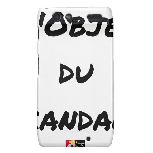 The OBJECT OF the SCANDAL - Word games - François Motorola Droid RAZR Cases