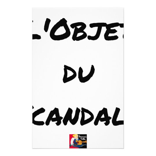 The OBJECT OF the SCANDAL - Word games - François Stationery