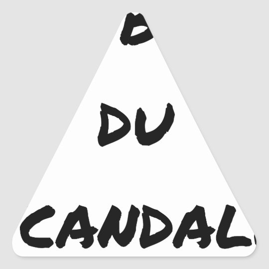 The OBJECT OF the SCANDAL - Word games - François Triangle Sticker