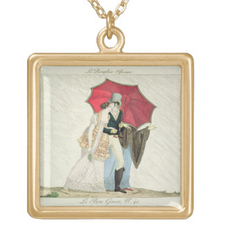 The Obliging Umbrella, plate 40 from 'Le Bon Genre Gold Plated Necklace