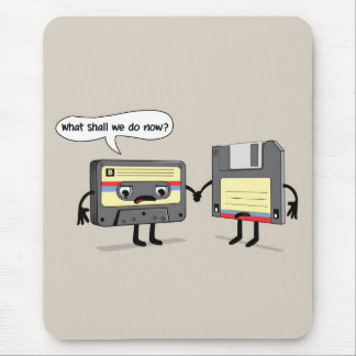 The Obsoletes (Retro Floppy Disk Cassette Tape) Mouse Pad