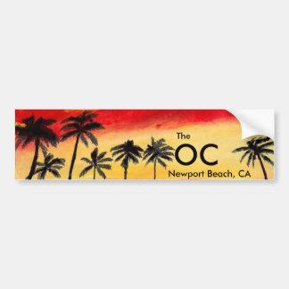 The OC Newport Beach California Bumper Sticker Art