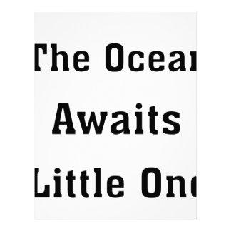 The Ocean Awaits Little One Letterhead