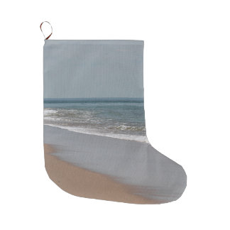 The ocean blue large christmas stocking