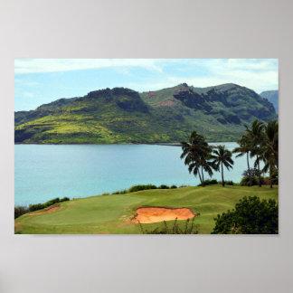 The Ocean Course at Hokuala, Lihue, Kauai, Hawaii Poster