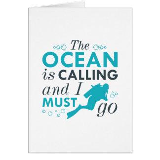 The Ocean Is Calling Card