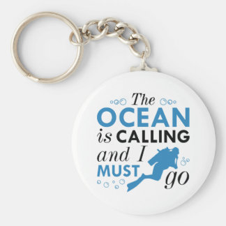 The Ocean Is Calling Keychain