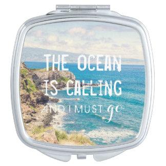 The Ocean is Calling - Maui Coast | Compact Mirror