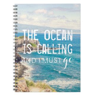 The Ocean is Calling - Maui Coast   Notebook