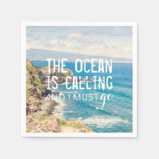 The Ocean is Calling - Maui Coast | Paper Napkins