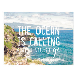 The Ocean is Calling - Maui Coast | Postcard