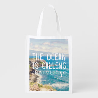 The Ocean is Calling - Maui Coast | Reusable Bag Market Tote