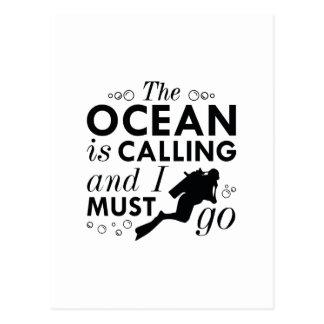 The Ocean Is Calling Postcard