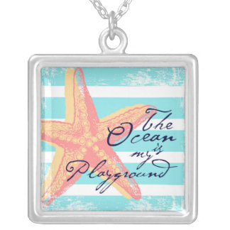 The Ocean is my Playground Silver Plated Necklace