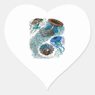 THE OCEAN PULSE HEART STICKER