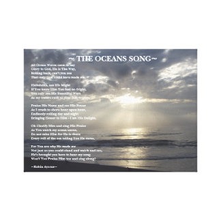 THE OCEANS SONG POEM CANVAS PRINT