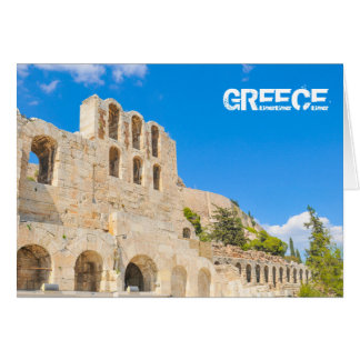 The Odeon of Herodes Atticus in Athens, Greece Card