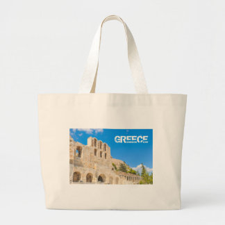 The Odeon of Herodes Atticus in Athens, Greece Large Tote Bag
