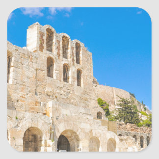 The Odeon of Herodes Atticus in Athens, Greece Square Sticker