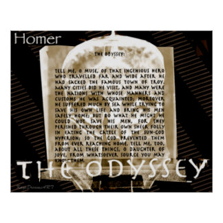 The Odyssey text Poster
