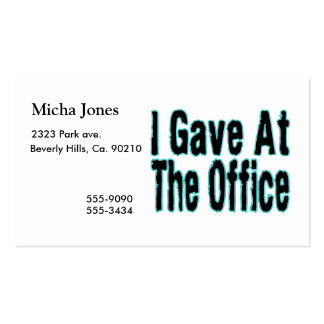 The Office Business Card