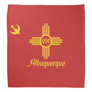 The official flag for the city of Albuquerque Bandana