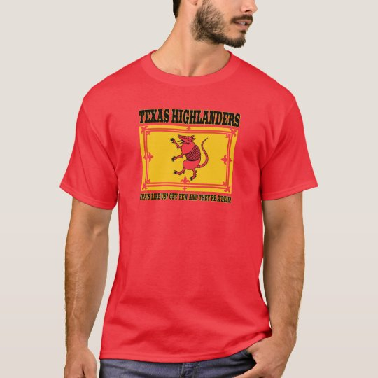 The Official Texas Highlander Dillo Rampant Tee