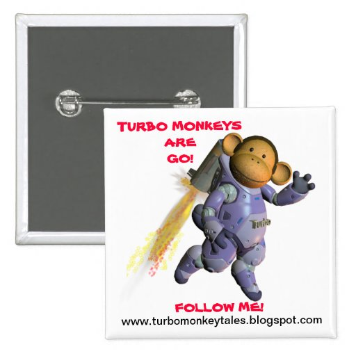 The Official Turbo Monkey Crit Crew Blog Launch Pinback Buttons