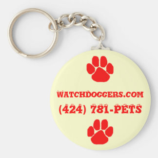 The Official WatchDoggers! Basic Round Button Keychain