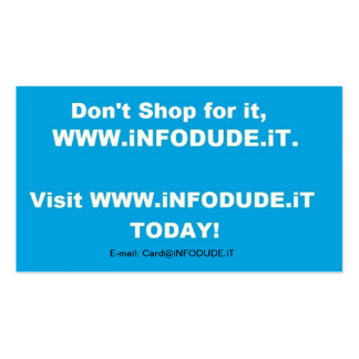 The Official WWW.iNFODUDE.iT Business Card! Business Card