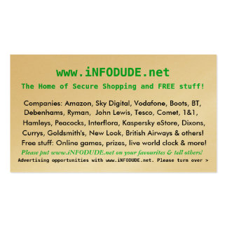 The Official www.iNFODUDE.net Business Card!