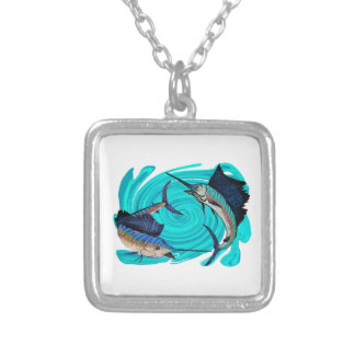 THE OFFSHORE CALLING SILVER PLATED NECKLACE