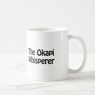 the okapi whisperer coffee mug