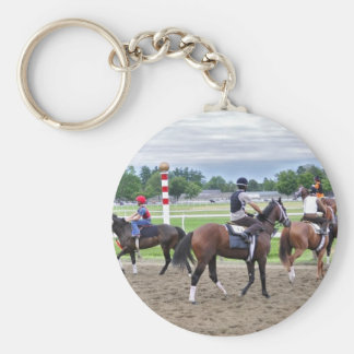 The Oklahoma Training Track at Saratoga Basic Round Button Keychain