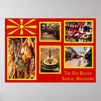 The Old Bazaar in Skopje Macedonia Poster