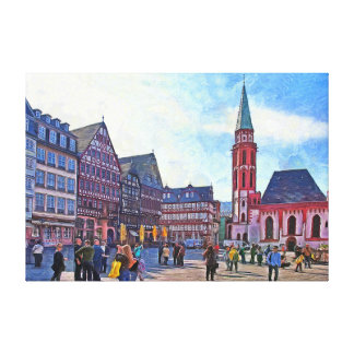 The Old Church of St. Nicholas in the Römerberg. Canvas Print