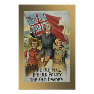 """The Old Flag - The Old Policy - The Old Leader"" Poster"