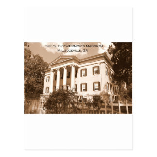 The Old Governor s Mansion Milledgeville Georgia Postcards