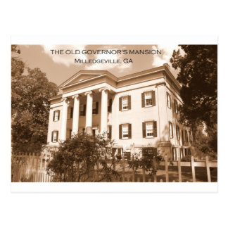 The Old Governor s Mansion Milledgeville Georgia Postcard