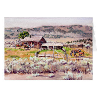 The OLD HOMESTEAD by SHARON SHARPE Card
