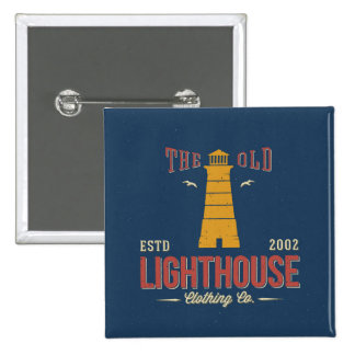 The Old Lighthouse Clothing Co. 2 Inch Square Button